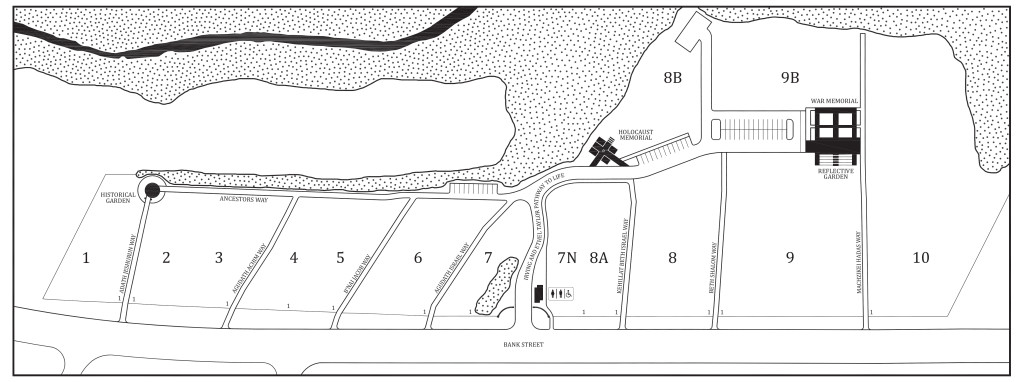 Bank Street Cemetery Map